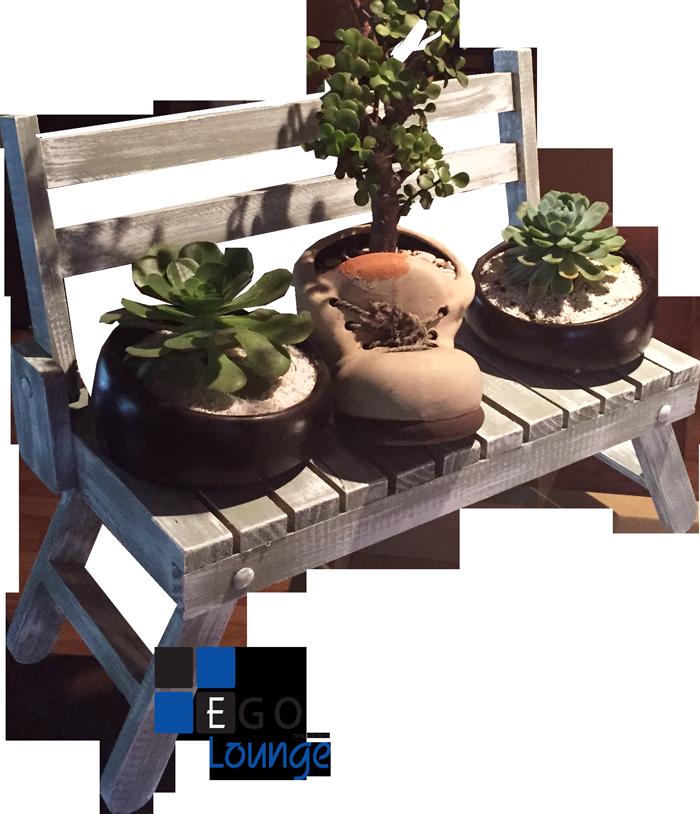 banquita para decoracion plantas muebles dulces