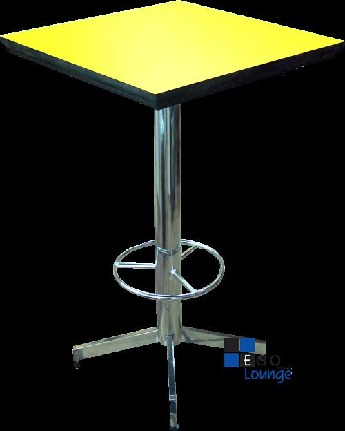 mesa formica amarillo ideal para bares y restaurantes