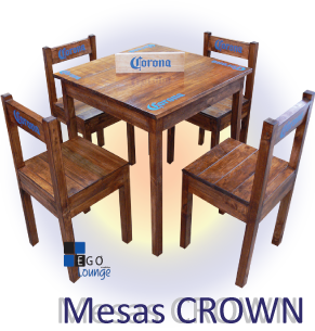 mesas restaurantes bares cerveza corona hoteles