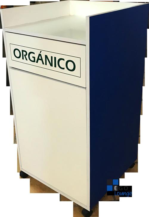 BOTE DE BASURA contenedor organico inorganico plaza fast food restaurantes