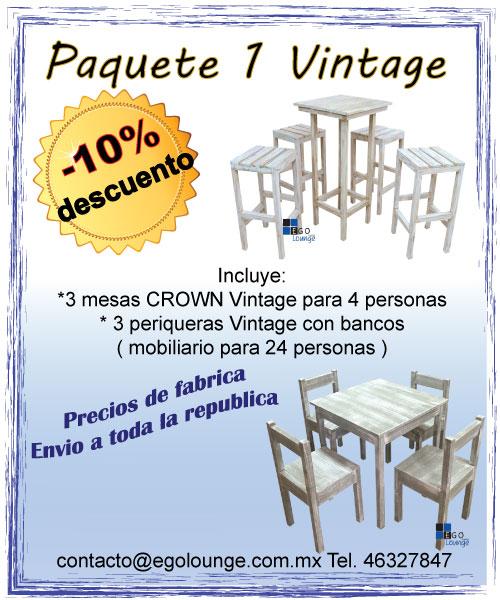 paquete muebles lounge vintage negocio